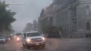 Torrential downpour floods downtown Kingston
