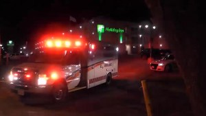 Man suffers head injury after falling off Peterborough's Holiday Inn