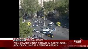 Witness describes the chaotic scene in Barcelona following attack