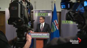 Alberta NDP projects largest deficit in province's history in budget 2015