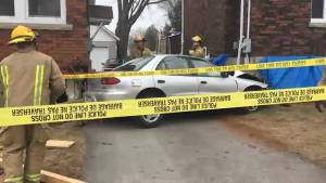 Car crashes into a house in Kingston's Williamsville neighbourhood