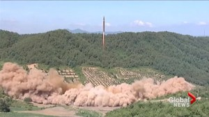 North Korean state TV airs footage claiming to show recent ballistic missile test