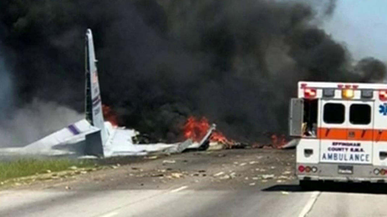 USA  military plane crashes near airport in Georgia