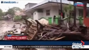 Dozens of people killed, hundreds injured after tsunami hits Indonesian coast
