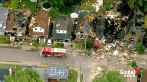 Aerial video shows extensive damage of London, Ont. gas explosion