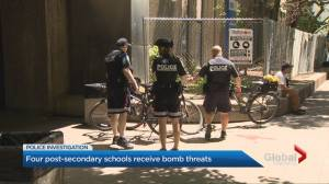 Students and staff evacuated after bomb threats to four Toronto post-secondary schools
