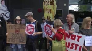 Dozens of anti-pipeline protests held across Canada today