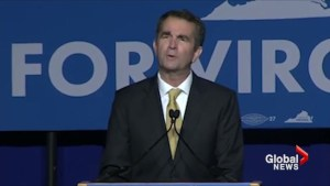 Virginia's new governor declares Democrats 'are back by popular demand'