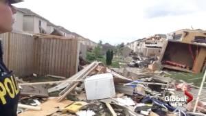 Vlog:  Sprawl of damage from Angus tornado