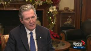 Premier Pallister Year End Interview – Meth