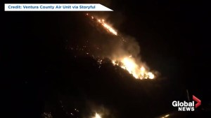 Incredible footage shows fire, smoke from California's Woolsey Fire