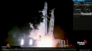 SpaceX launches Spanish satellite from California