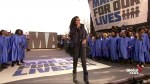 March for our lives: Jennifer Hudson performs powerful rendition of 'The times they are a-changin'