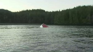 Raw: Capsized whale watching tour boat