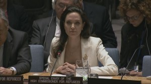 Angelina Jolie pleads on behalf of Syrian refugees at UN