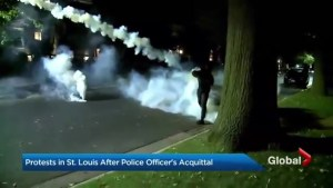 Violent protests erupt in St. Louis after aquittal of former officer in death of black man