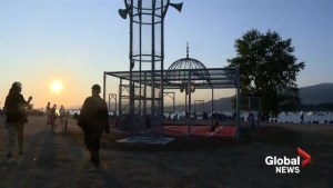 Chain-link mosque sculpture in Vanier Park created as communal space for all