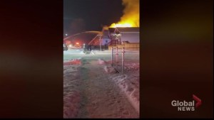 Winnipeg firefighters battle fire in North End
