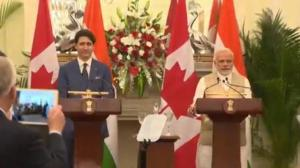 Trudeau, Modi agree to fight religious terrorism