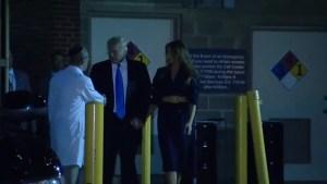 Donald Trump visits shooting victim Congressman Steve Scalise in hospital