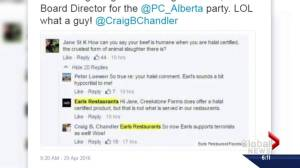 Member of PC board of directors quits over Earls comments (00:28)