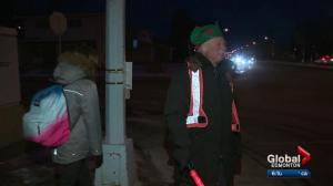 Edmonton grandfather volunteers as crossing guard on busy road