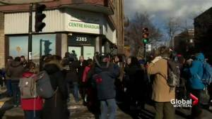 Vigil for Montreal mosque vandalized after Quebec City attack