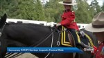Honourary RCMP member inspects Musical Ride
