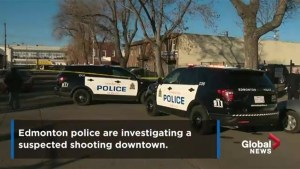 Edmonton police investigate suspected shooting downtown