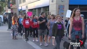 Kelowna march against violence hopes to incite change (01:36)