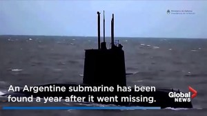 Missing Argentine submarine located after year-long search