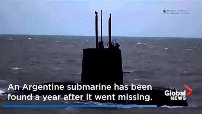Click to play video: Missing Argentine submarine located after year-long search