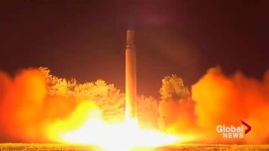 North Korea's state TV shows video of second ICBM launch