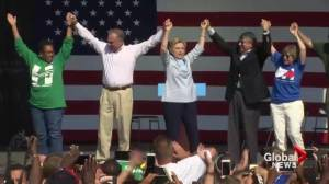 Trump, Clinton spend Labour Day campaigning