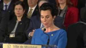 Valerie Plante delivers first speech as Montreal's mayor