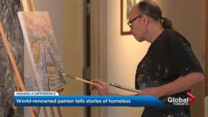 Artist Marco Sassone debuts pieces from 'Home on the Streets' collection in Canadian premiere