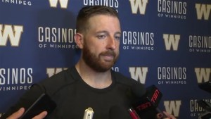 RAW: Blue Bombers Matt Nichols Post Game