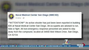 "Naval Medical Center San Diego tweet advises occupants to ""run, hide, or fight"" in face of active shooter situation"