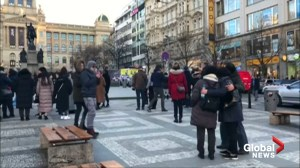 Eyewitnesses describe moment man set himself ablaze in Prague square