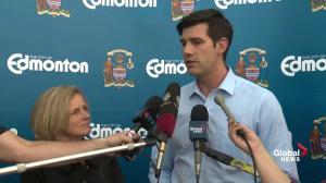 Edmonton mayor discusses housing situation in Edmonton