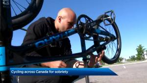 Cycling across Canada for sobriety