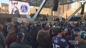 Toronto celebrates Argos big win at Nathan Phillip Square