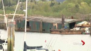 Derelict barge poses threat in Howe Sound