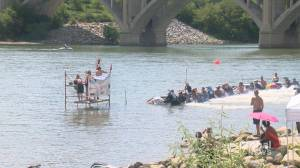 Jet skiers compete in Saskatoon watercross racing event