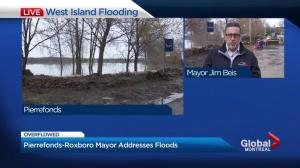 Pierrefonds-Roxboro Mayor Jim Beis addresses flooding issues