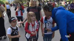 Raptors victory parade: Parents share historic parade with their kids