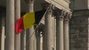 Montreal City Hall flies Belgian flag in support of Brussels attack victims