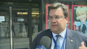 Raw video: Montreal's mayor on homeless spike controversy