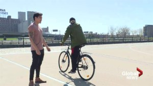 Helping hand for man travelling world by bike after Laval robbery