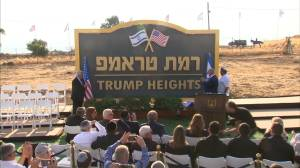 'Trump Heights' launched by Israel, though construction may lag